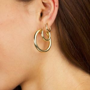 Gold Chunky Stacking Hoops